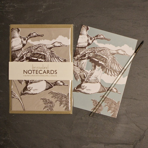 Set of 6 Notecards - Flying Ducks