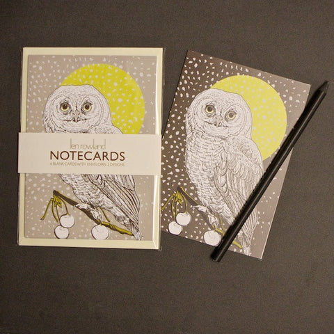 Set of 6 Notecards - Owl