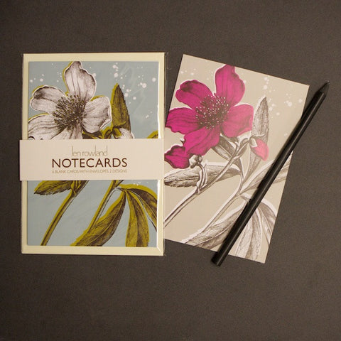 Set of 6 Notecards - Helibore