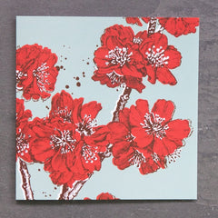 SALE - 3 Mixed Greetings Cards - Poppy Red and Aqua