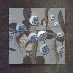 Set of 8 Foiled Acacia Cards - Mixed Colours