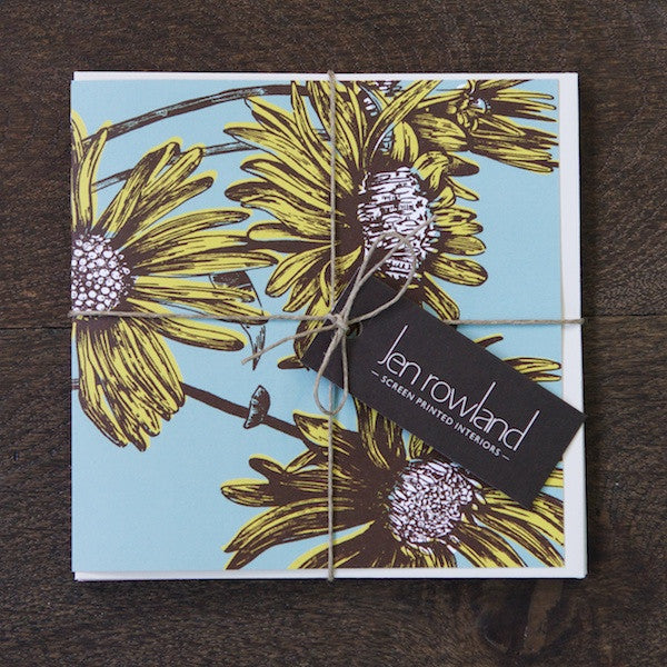 SALE - Set of 4 Greetings Cards - Daisy - Mixed