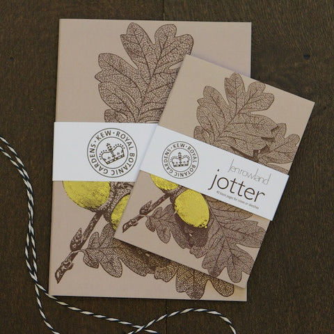 SALE Notebook Set of 2 - Foiled Gold Acorns