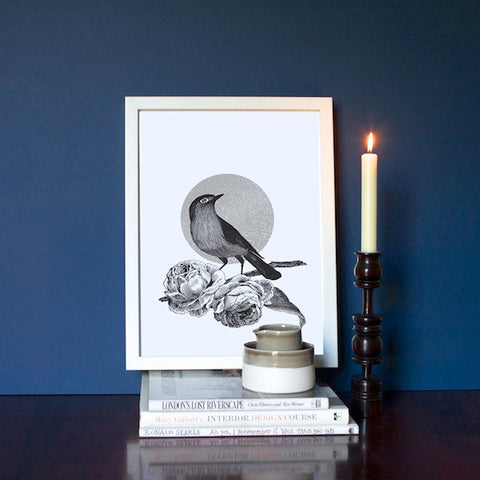 Nightingale & Moon Print