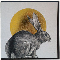 Foiled greetings card with Rabbit illustration