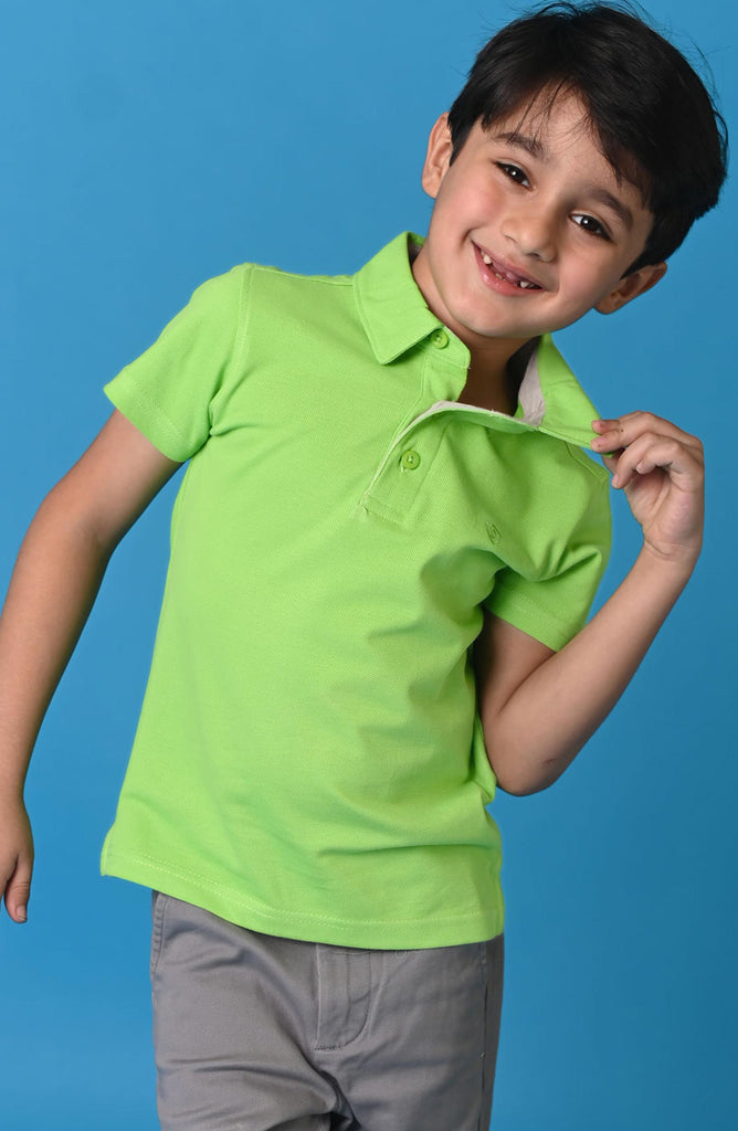 H/S GUTS PLAIN POLO - Absinthe Green