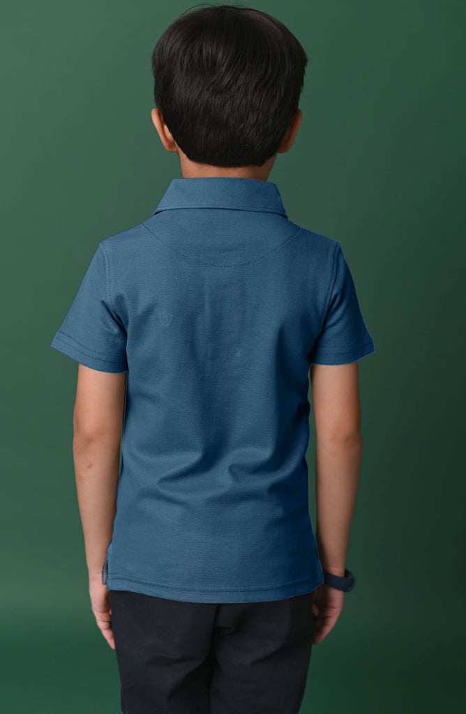 H/S GUTS PLAIN POLO - Light-Blue