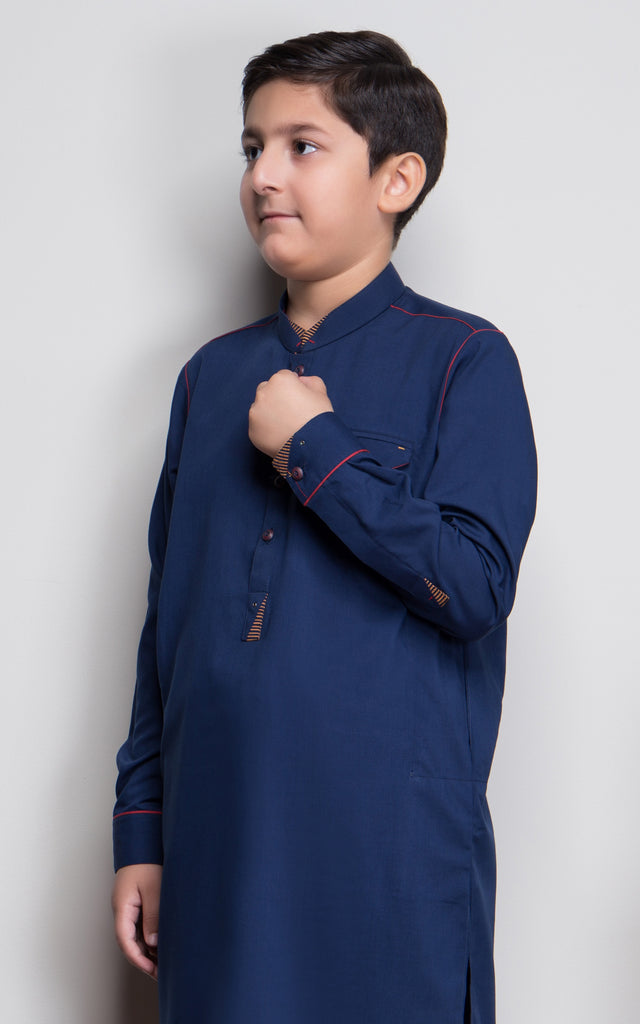 JUNIOR SHALWAR SUIT-NAVY