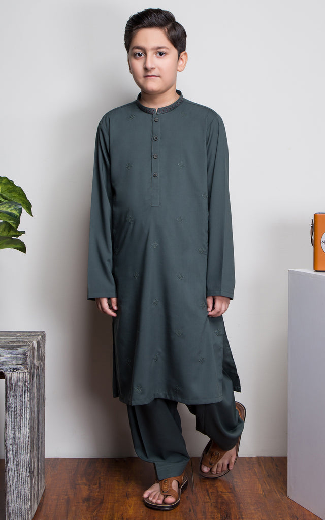 JUNIOR SHALWAR SUIT-GREEN