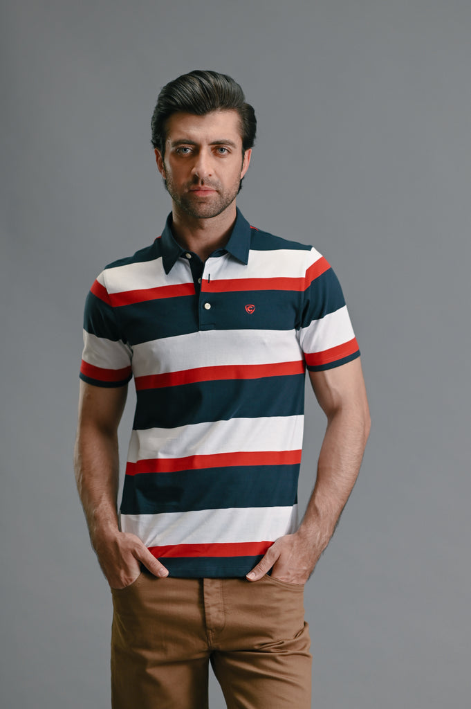 HALF SLEEVES YD  POLO - NAVY