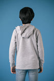 F/S GUTS GRAPHIC HOODY - LIGHT HEATHER GREY