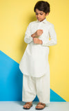 KAPASS SHALWAR SUIT-OFF WHITE