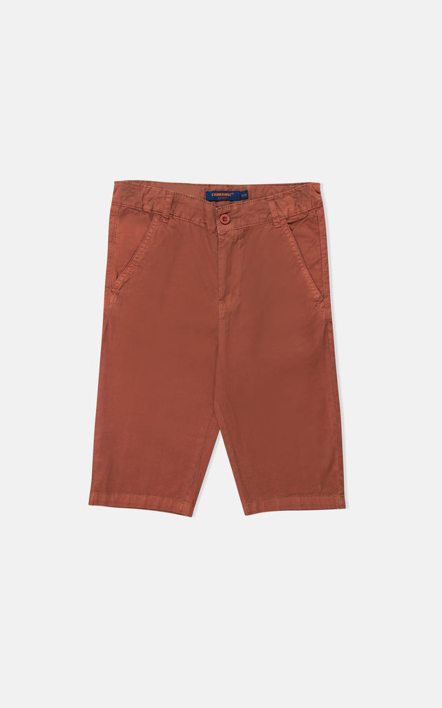 GUTS PLAIN SHORT- SADDLE BROWN