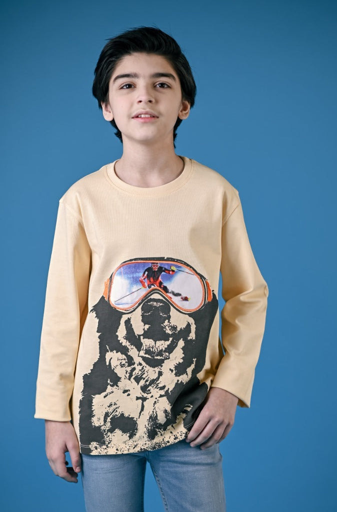 F/S GUTS GRAPHIC TEES- AUTUMN BLONDE