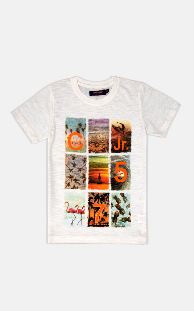 H/S GUTS GRAPHIC TEES  - OFF WHITE