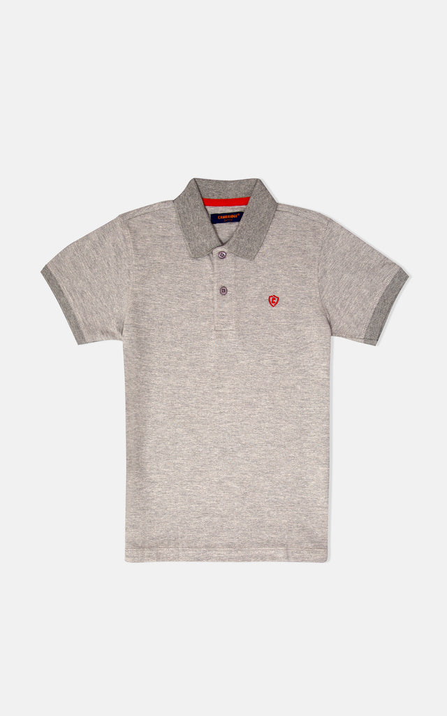 H/S GUTS PLAIN POLO - HEATHER GRAY