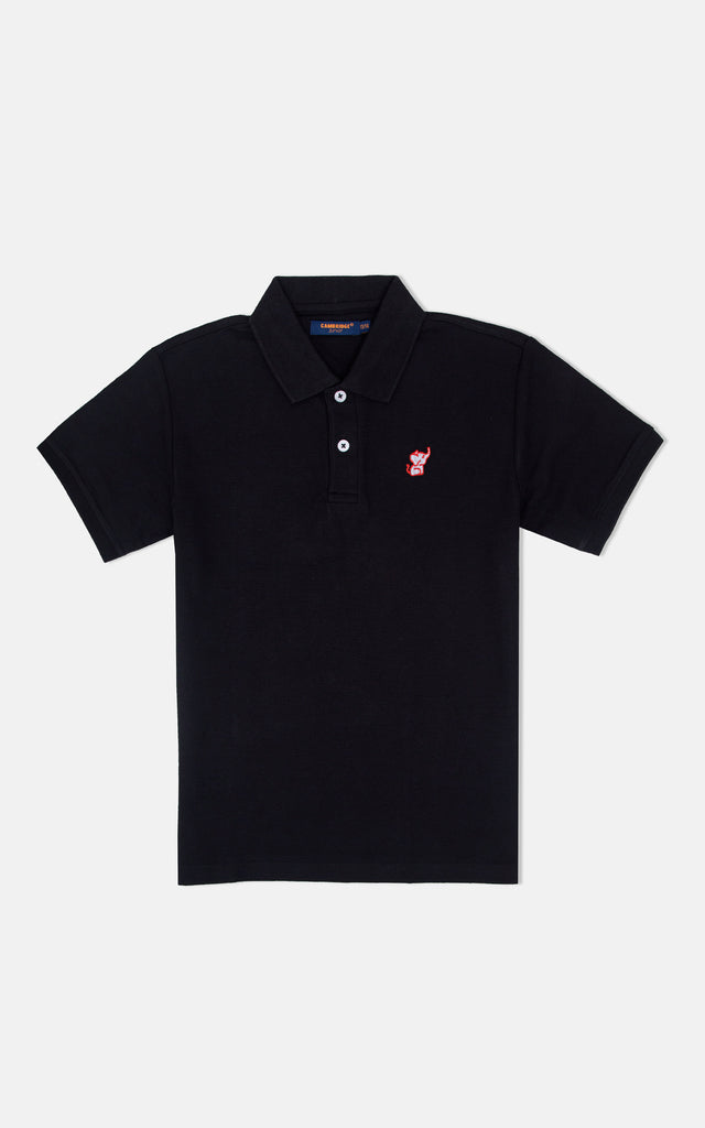 H/S GUTS PLAIN POLO - ANTHRACITE