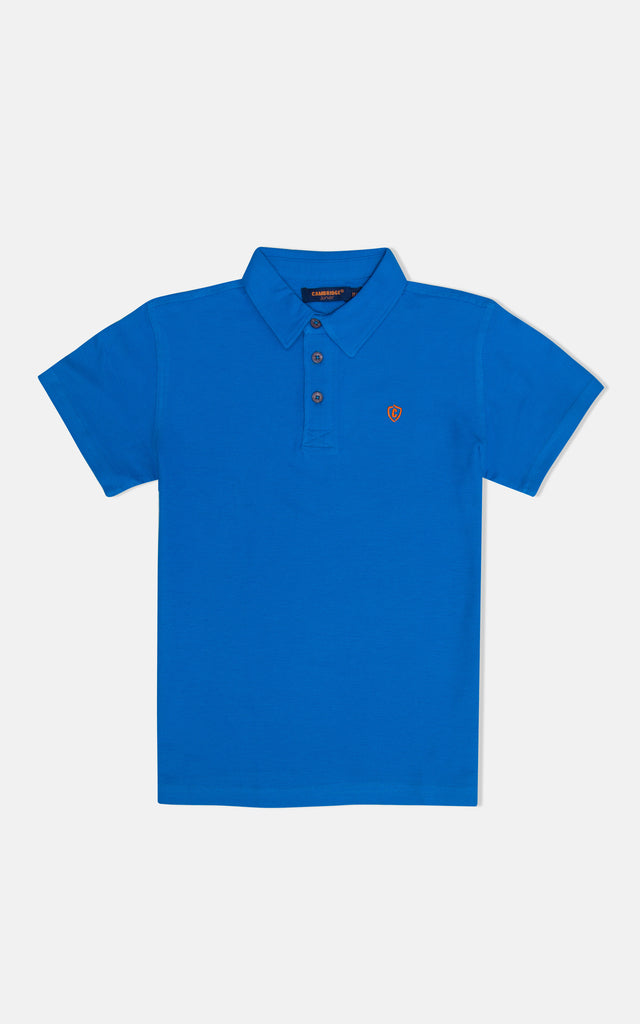 H/S GUTS PLAIN POLO - FRENCH BLUE