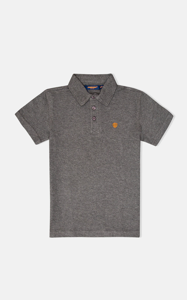 H/S GUTS PLAIN POLO - H/CHARCOAL