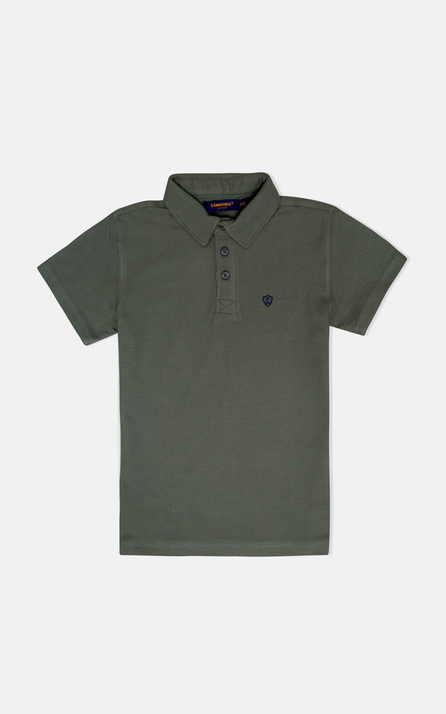 H/S GUTS PLAIN POLO - DUSTY OLIVE