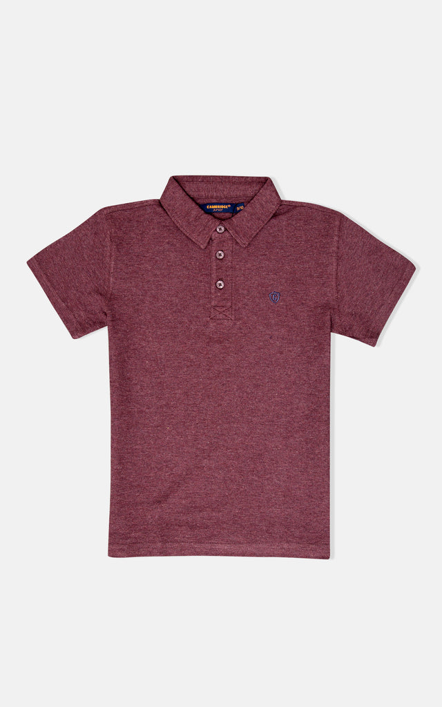 H/S GUTS PLAIN POLO - Heather Wine