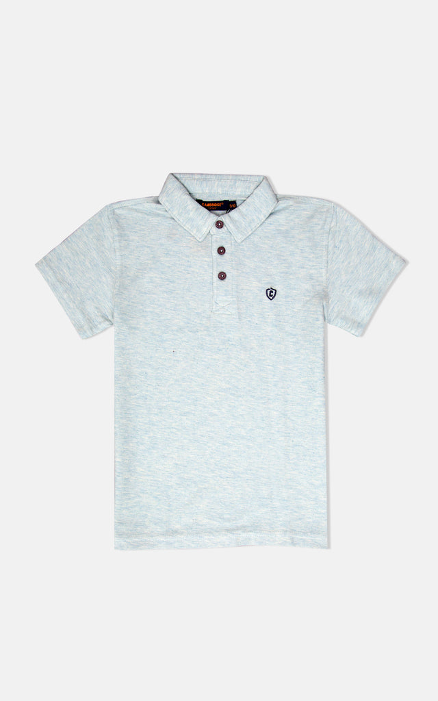 H/S GUTS PLAIN POLO - Light H Aqua