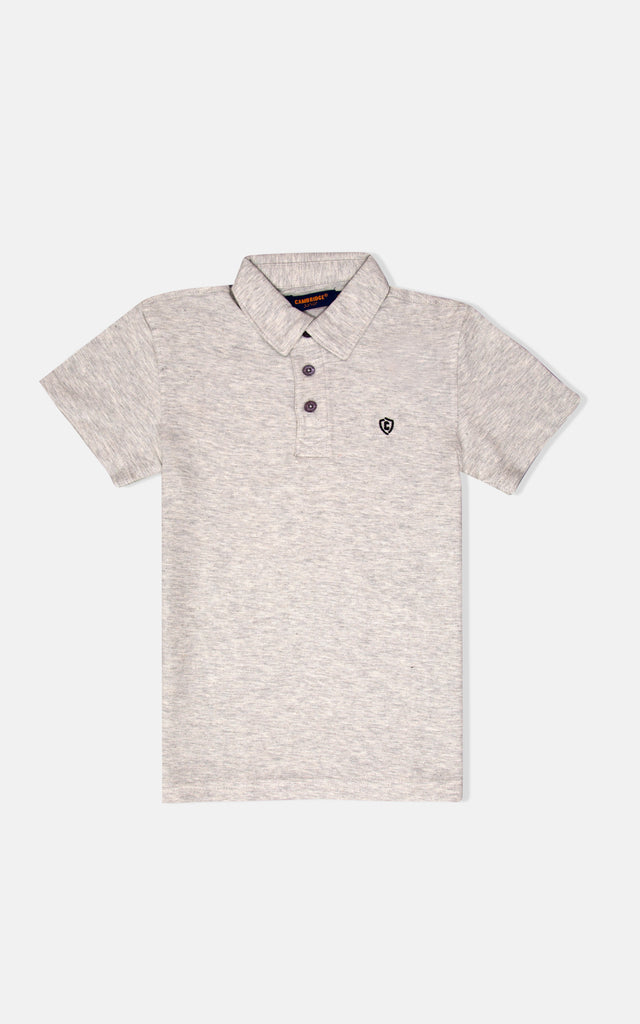 H/S GUTS PLAIN POLO - Light H Grey