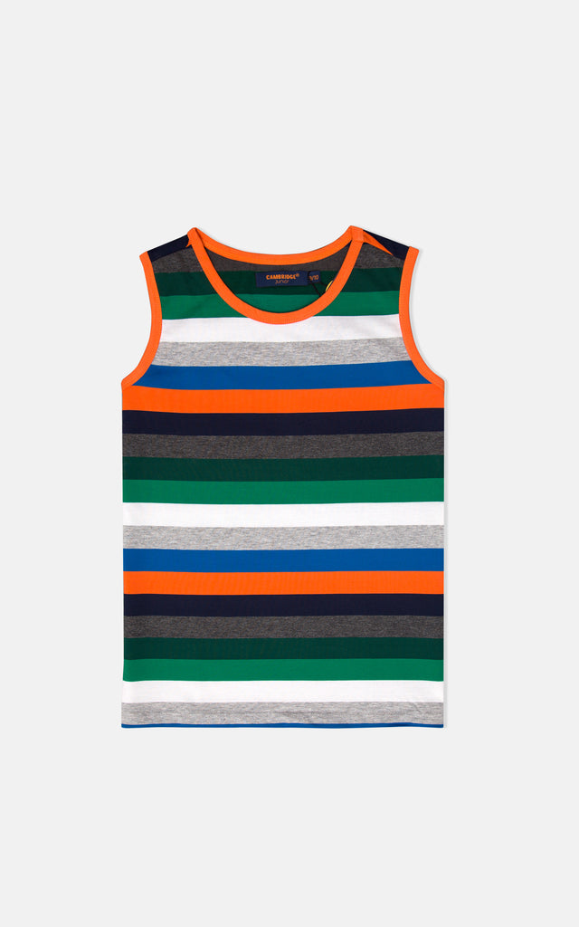 S/L GUTS VEST- ORANGE/NAVY