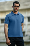 Half Sleeves Polo - Ash Blue
