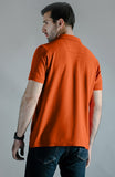 Half Sleeves Polo - Orange