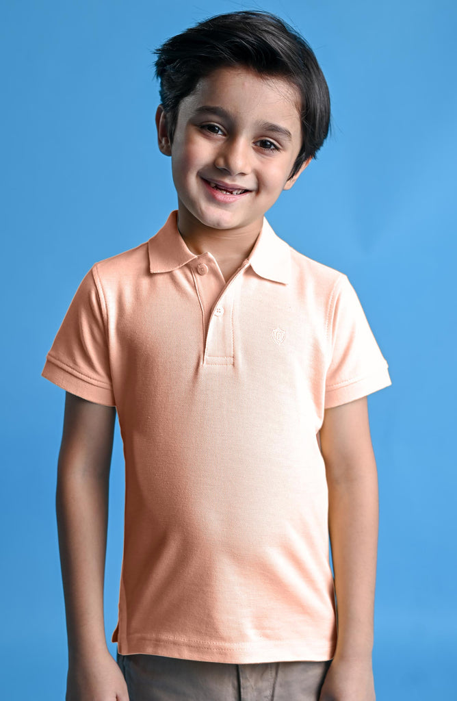 H/S GUTS PLAIN POLO - PINK