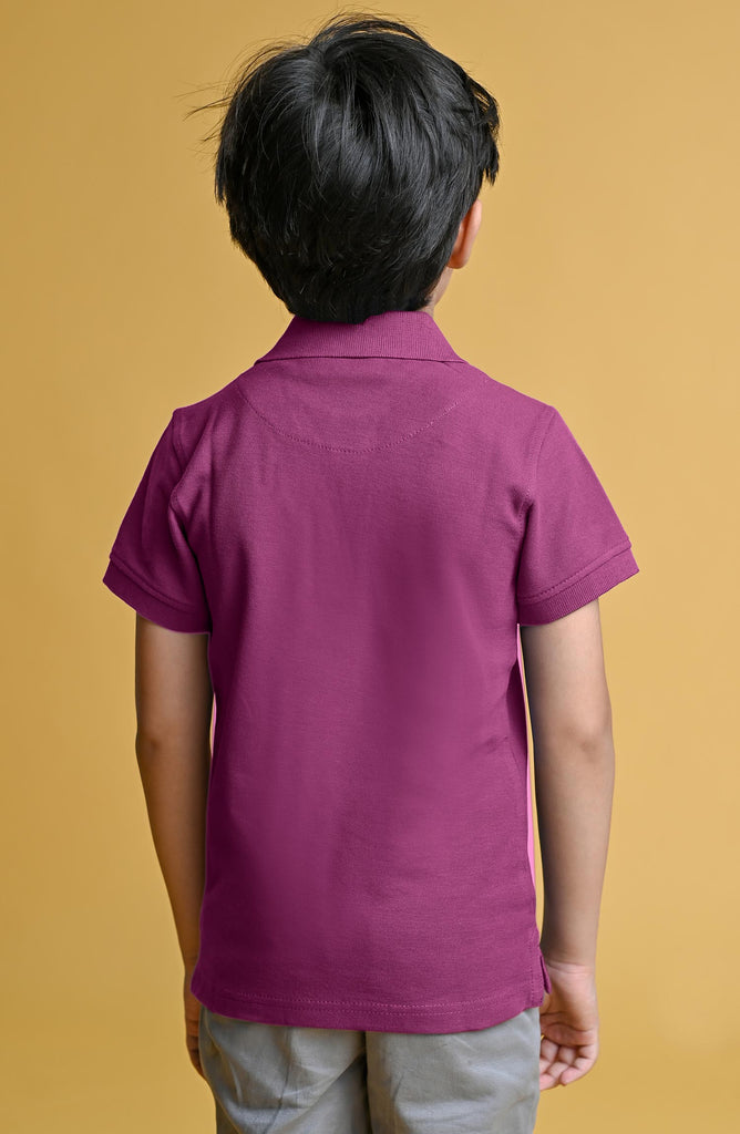 H/S GUTS PLAIN POLO - PURPLE