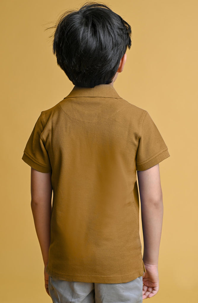 H/S GUTS PLAIN POLO - MUSTARD