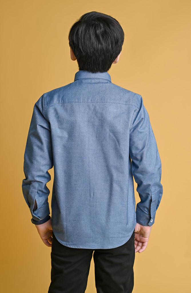 GUTS SOLID SHIRT- SKY BLUE