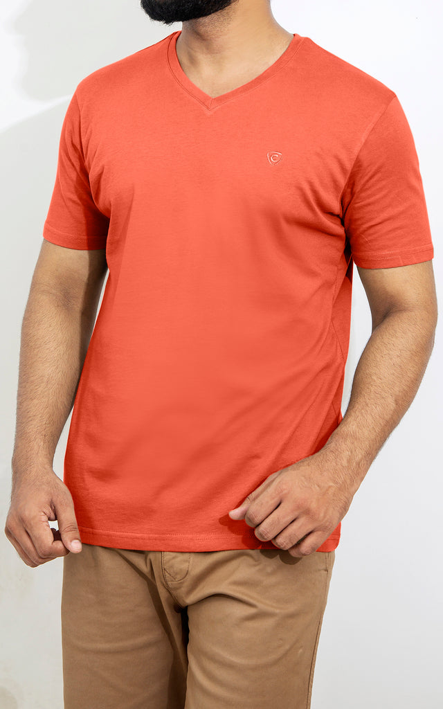 H/S V NECK - GINGER SPICE