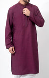 Embroidered Kurta - Violet