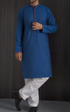 Embroidered Kurta - Blue