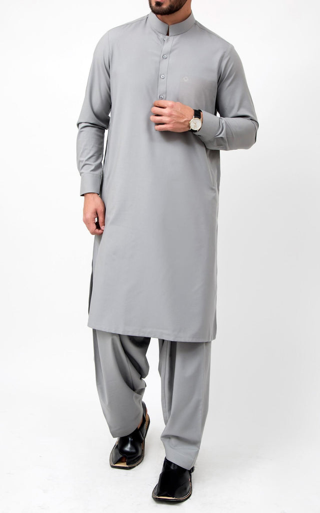 Kappas Shalwar Suit - Grey