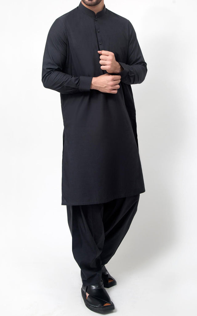 Cotton Soul Shalwar Suit - Black