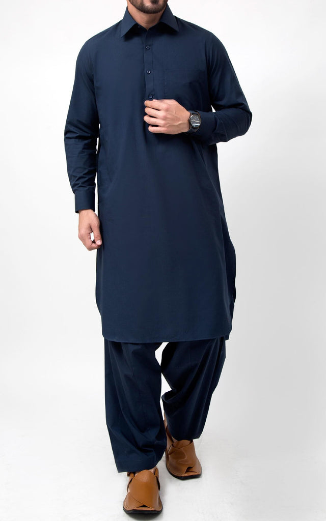 Cotton Soul Shalwar Suit - Navy