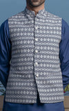 Basic Waist Coat - Blue/White