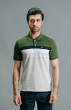 HALF SLEEVES YD  POLO - CHIVE
