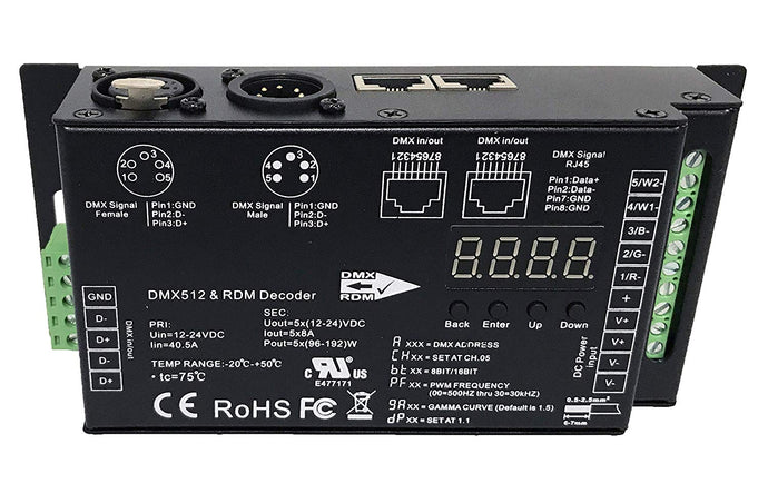 5 Channel DMX/RDM Decoder