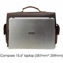 Load image into Gallery viewer, Vintage Leather Briefcase