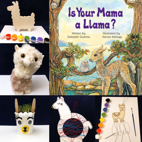 Llama themed activities for kids based on Is Your Mama a Llama?