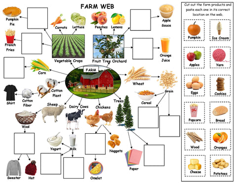 Farm Web activity - farm theme kids