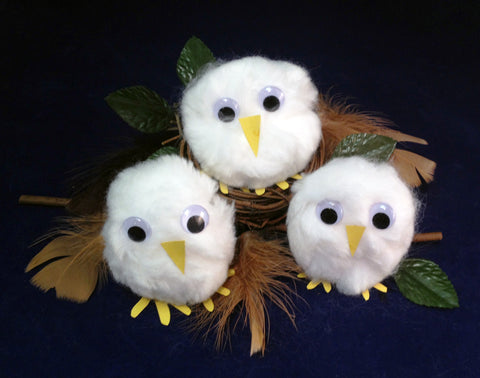 Art activity: Make Your Own Owl Babies based on the book Owl Babies