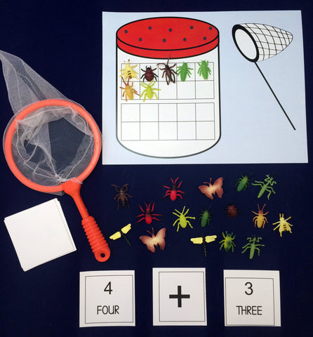 Math Activity - Bug Catching Game Inspired by The Very Lonely Firefly by Eric Carle