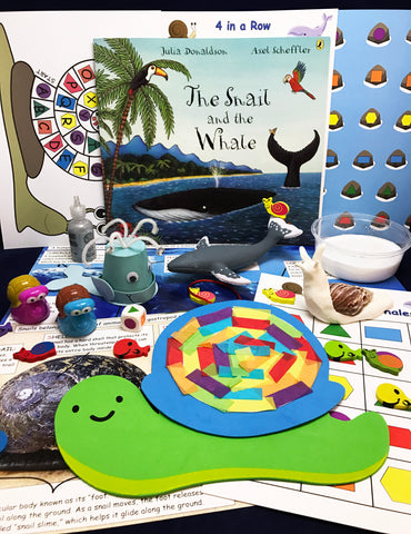 STEAM activities inspired by the book The Snail and the Whale by Julia Donaldson