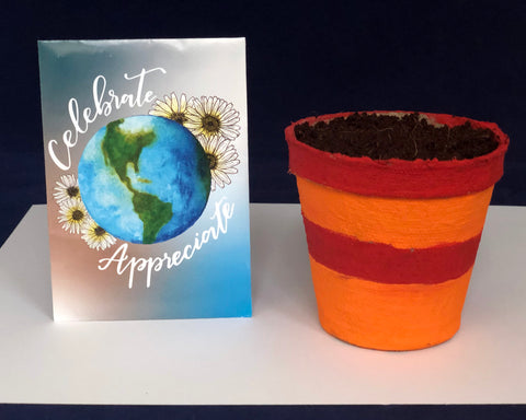 Planting seeds for Earth Day kids activity